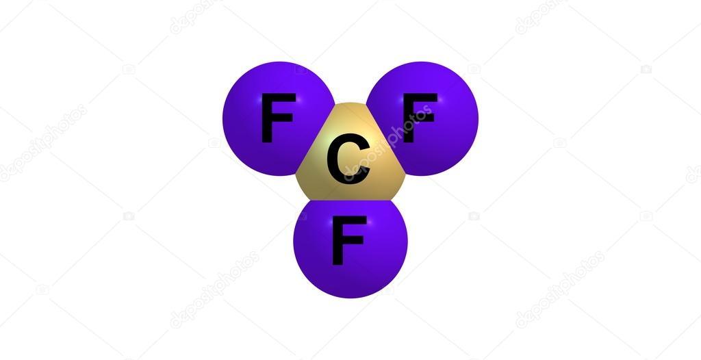 白で隔離三フッ化塩素分子 — ス...