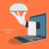 Fényképek Online élelmiszer szállítás fogalmát illusztráció