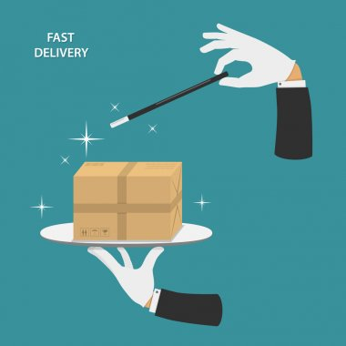 Fast delivery vector conceptual illustration.