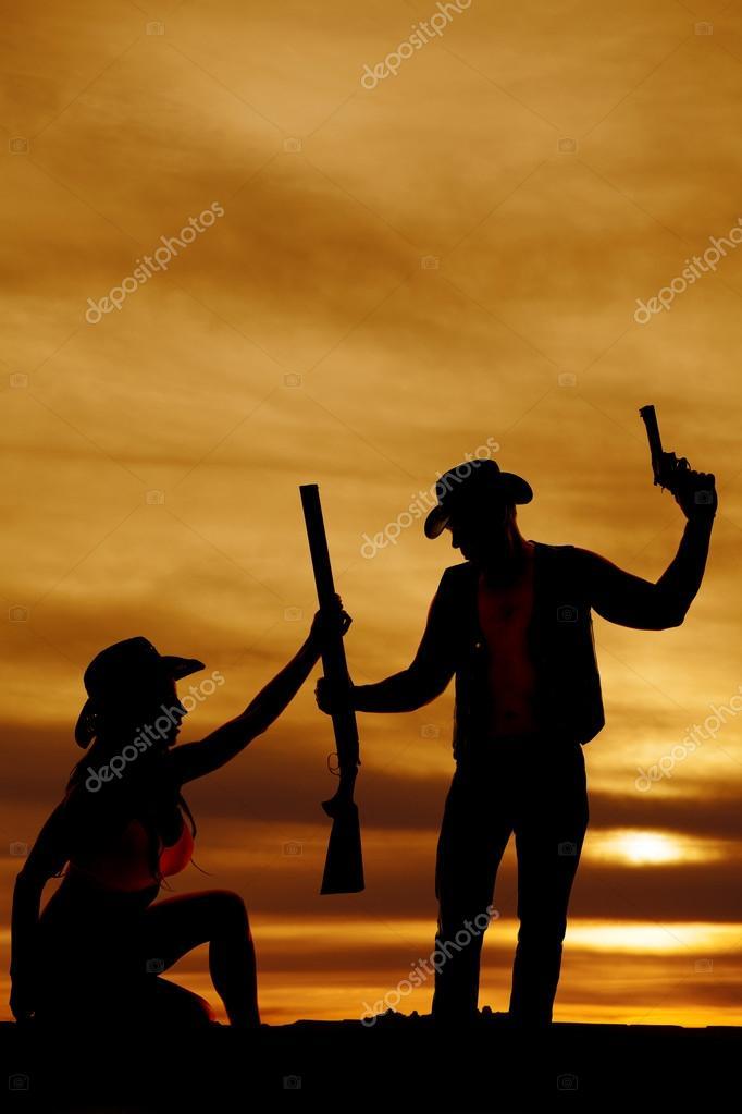 Imágenes Vaqueras De Amor Para Descargar Silueta De Pistola De