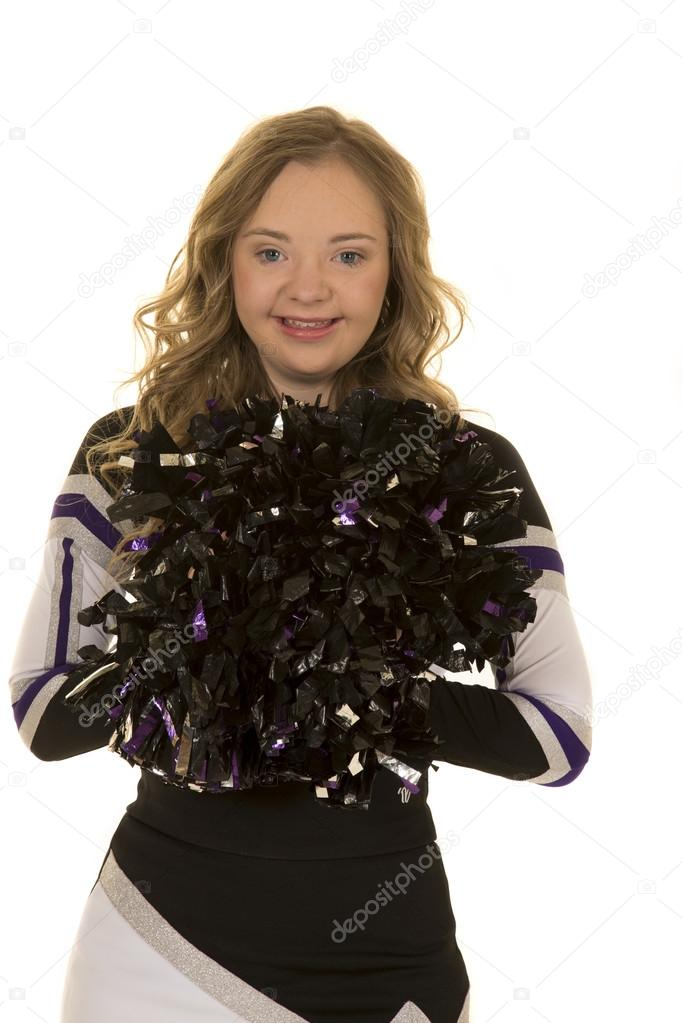 smile cheerleader with pom
