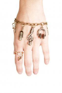 Bracelet with charms hanging