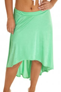 close up mint skirt