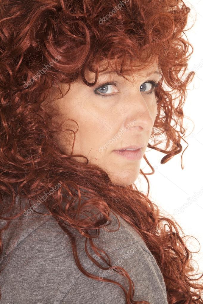 Woman Red Hair Look Back Close Stock Photo Alanpoulson 55417891