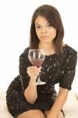 Fotografie Hawaiian woman with wine glass