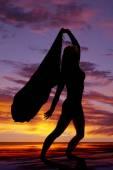 Fotografia Siluetta di una donna in posa