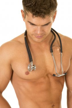 sexy doctor man with stethoscope