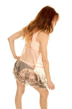 beautiful woman wearing erotic lingerie