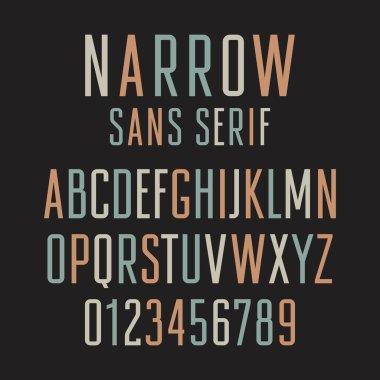 Narrow Sans Serif 001