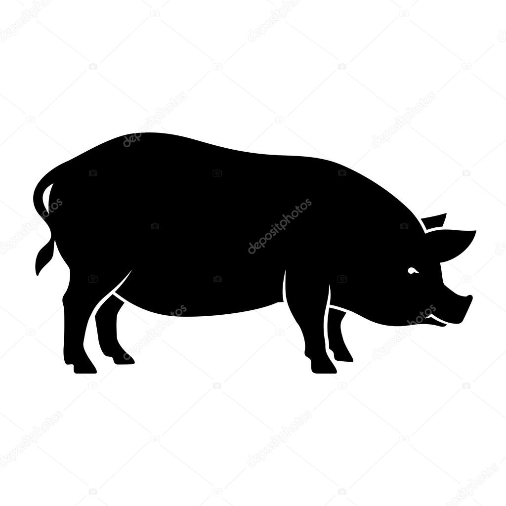 豚のシルエット ストックベクター Alexeypushkin 58178405