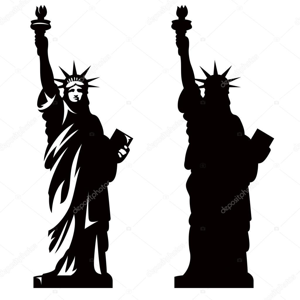2 自由の女神像 ストックベクター Alexeypushkin 64898899