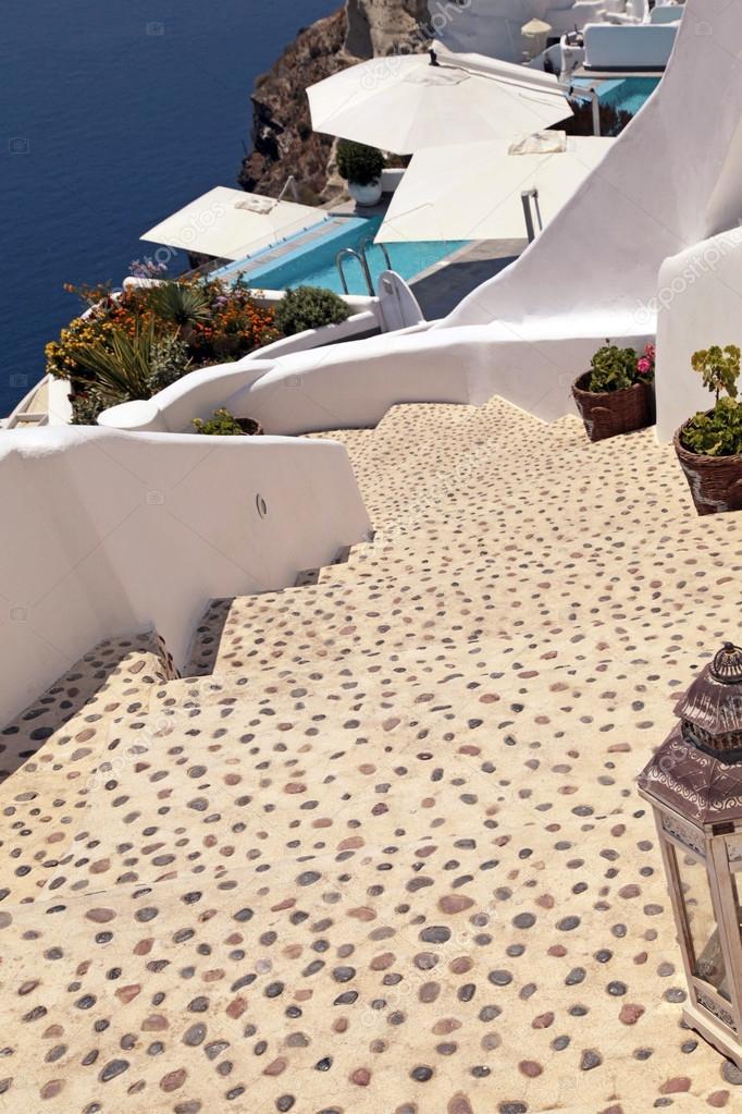 Schöne Treppen schöne treppen auf santorin griechenland stockfoto felker