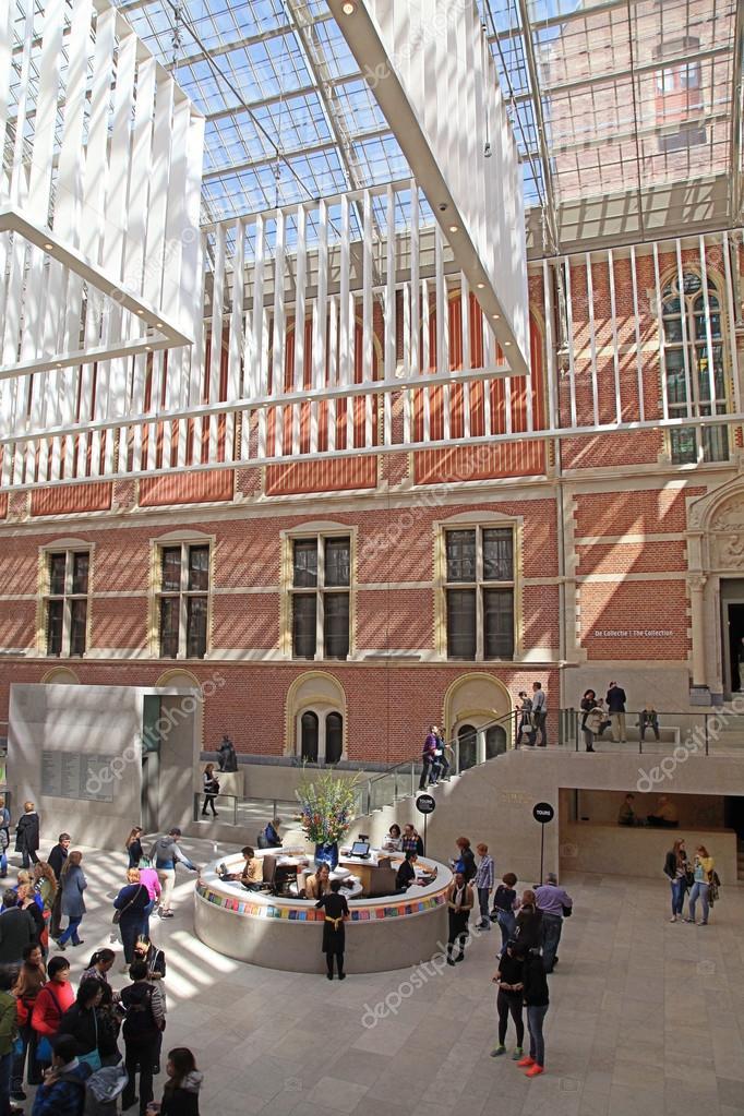 Halle-Interieur des Nationalmuseums Rijksmuseum, Amsterdam ...