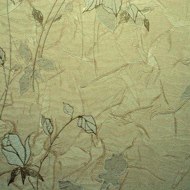 retro floral wallpaper in golden design
