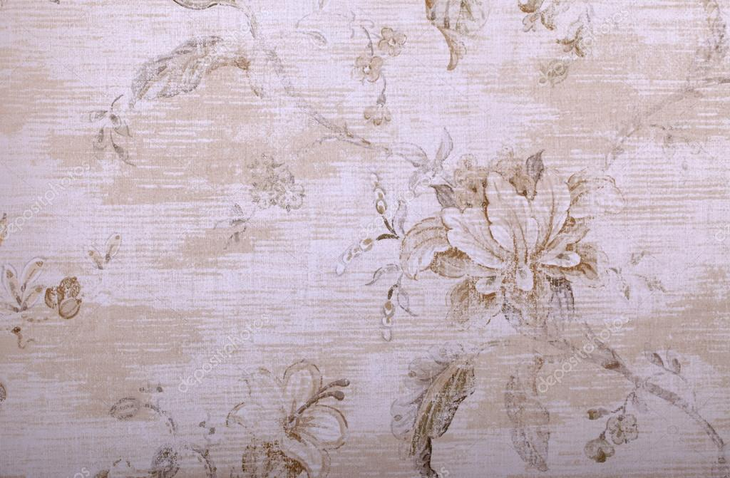 Vintage Beige Tapete shabby chic florales Muster — Stockfoto ...