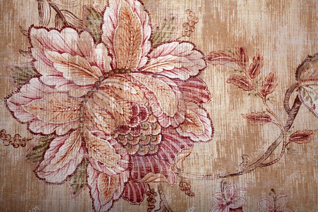 Vintage shabby chic brun fond d'écran avec bagout victorienne floral — Photographie felker ...