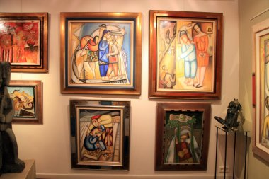 Contemporary paintings at Art Gallery in Saint Paul de Vence