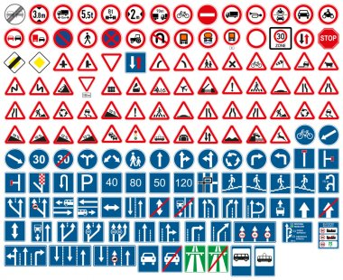 Road signs. Vector illustrations. stock vector