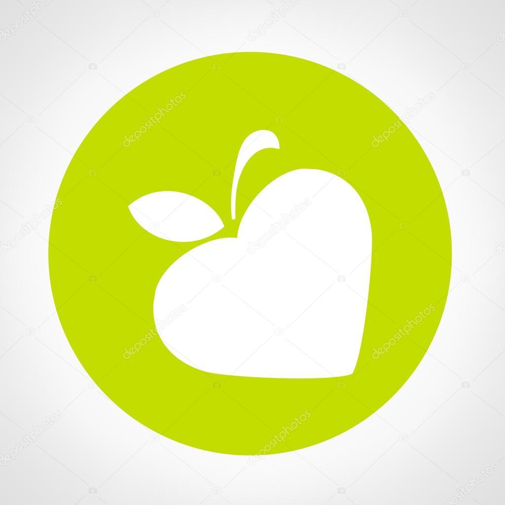Apple Symbol Vektor Illustration Stock Vektor Barcovatalia