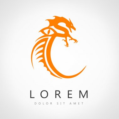 Dragon logo vector design template, dragon icon.