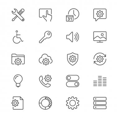 Simple vector icons. Clear and sharp. Easy to resize. stock vector