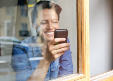 young woman using cell phone