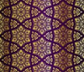 Gold-on-Purple seamless arabesque pattern