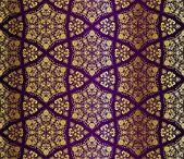 Fényképek Gold-on-Purple seamless arabesque pattern