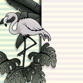 Fotografie Vintage-Stil tropischen Banner mit einem flamingo