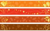 Fényképek Őszi bannerek, meleg színekkel