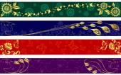 Fényképek Ragyogó színes nyári bannerek