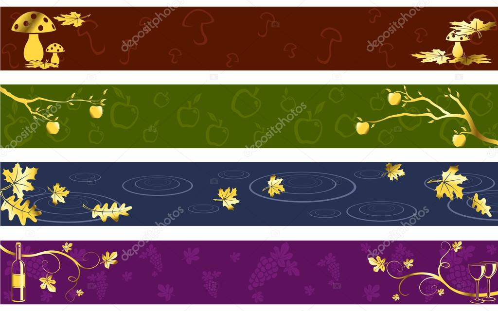 Autumn Banners in Dark Colors