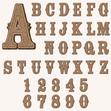 wooden western alphabet