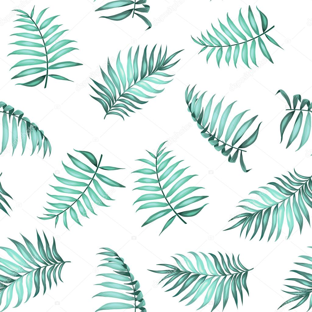 Topical Palm Leaves Pattern Stock Vector
