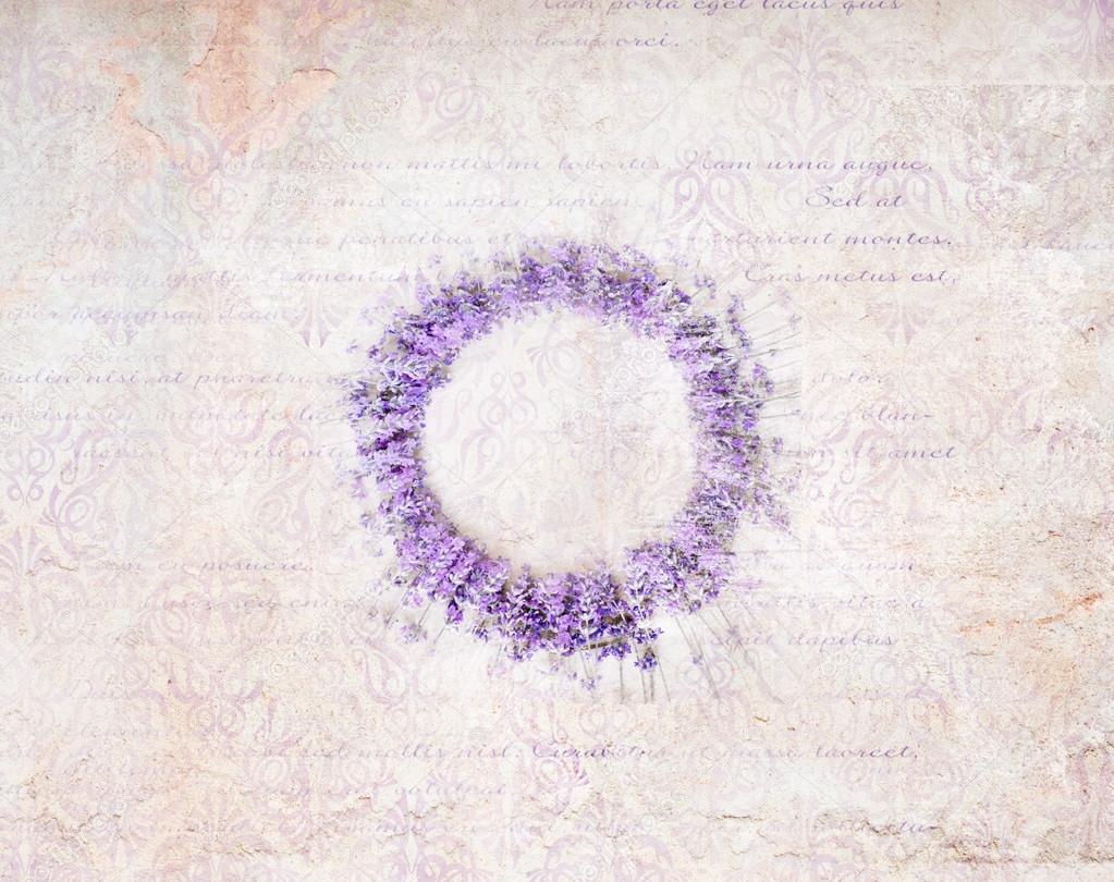 Lavender wreath.