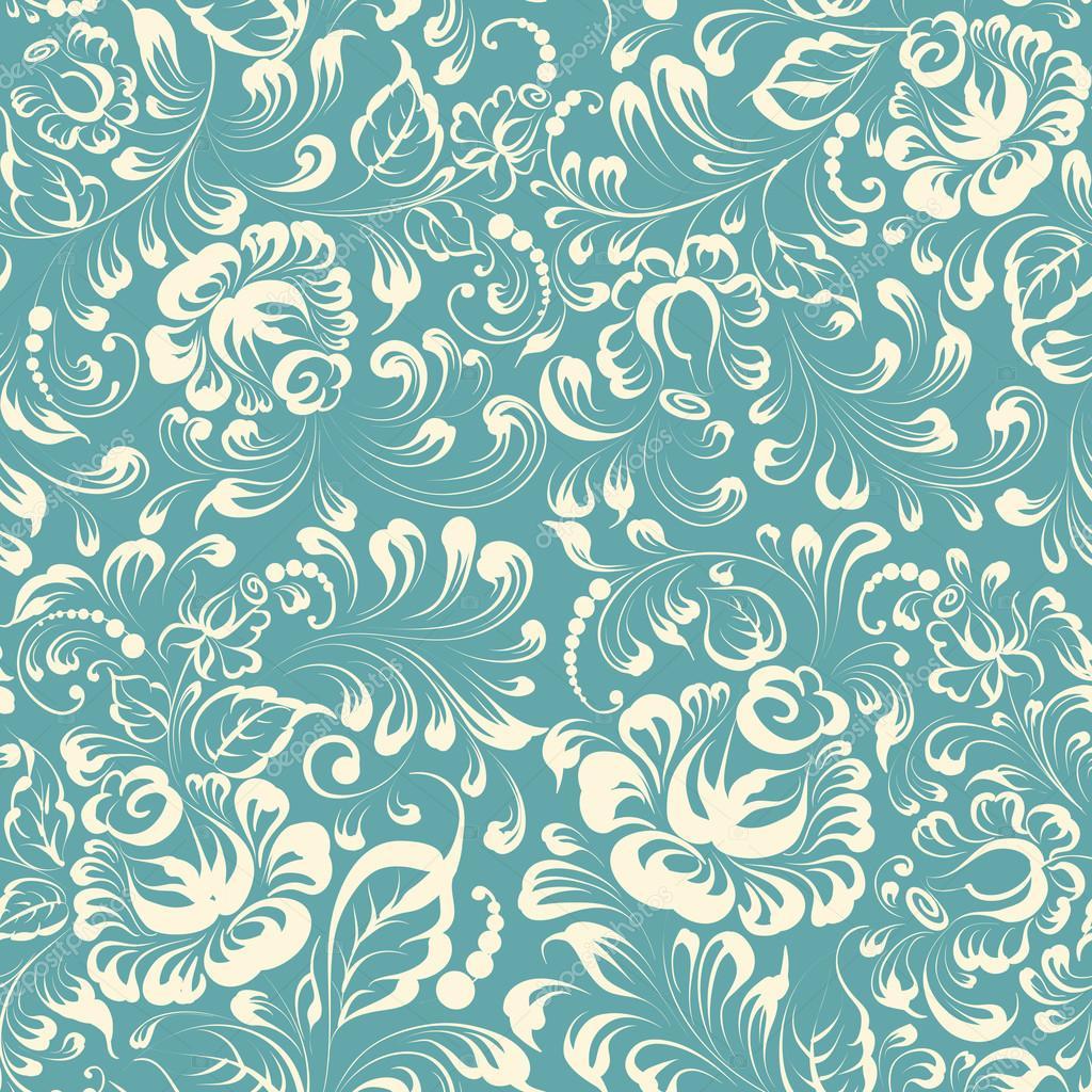 Khohloma style floral pattern.