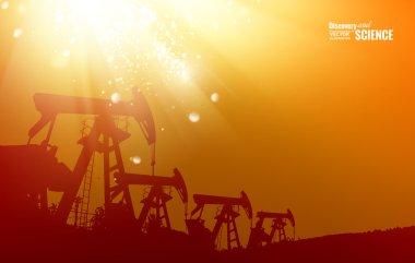 Oil pump background.