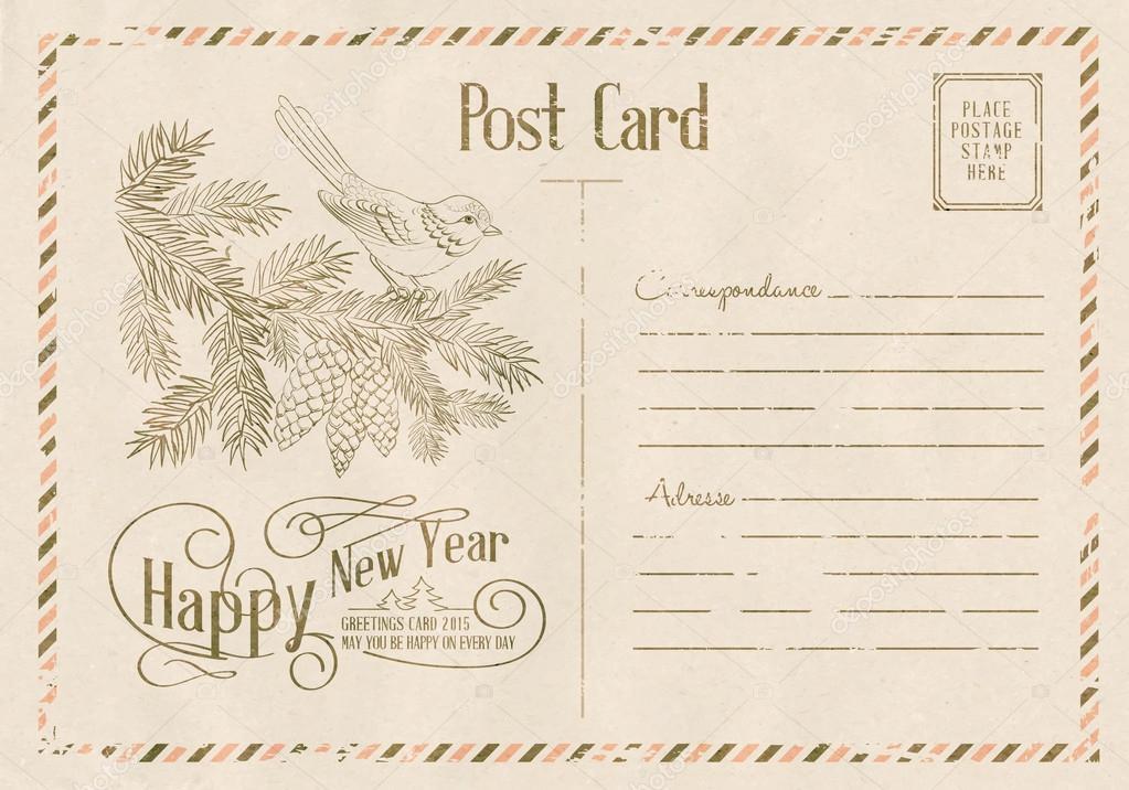 Happy new year card.
