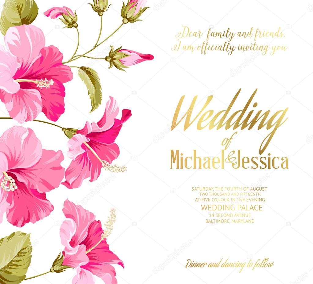 Hochzeitseinladungskarte Stockvektor C Kotkoa 65392987