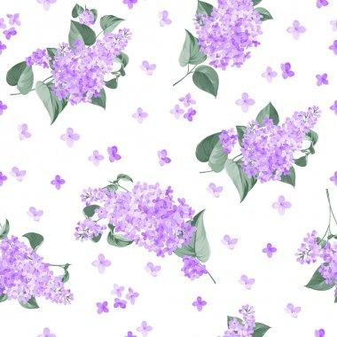 Seamless lilac pattern.