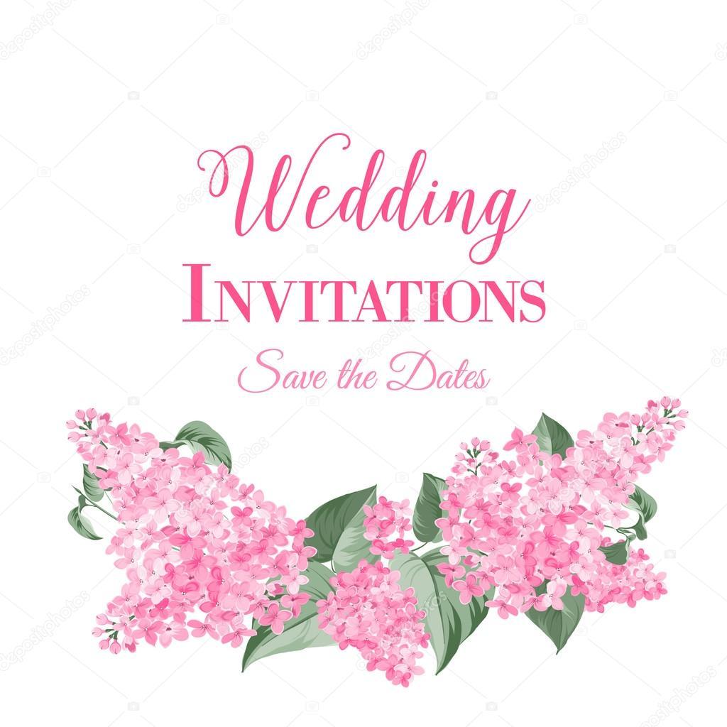 Tarjeta De Invitación De Matrimonio Vector De Stock