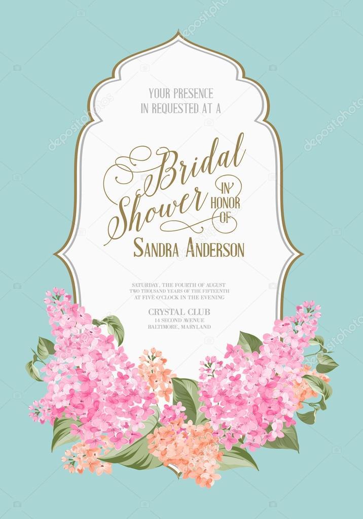 Bridal shower card.
