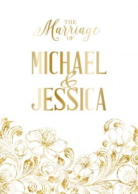 Marriage card template.