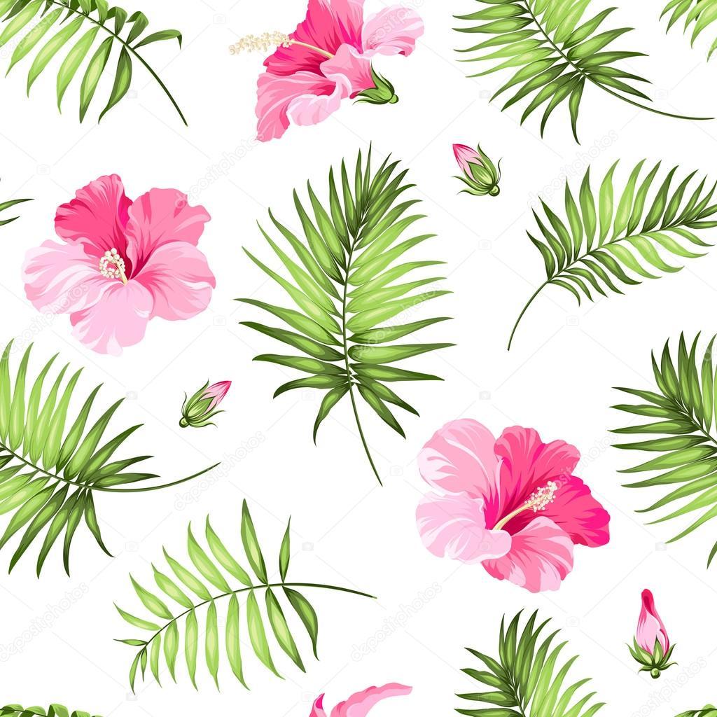 Tropical seamless pattern.