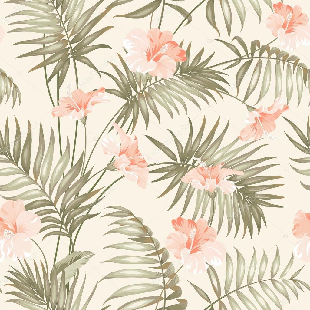 Dibujos Flores Tropicales Mano Dibujar Flores Tropicales Vector