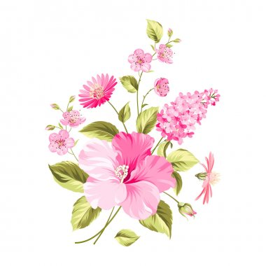 Bouquet of flowers. Vector illustration stock vector