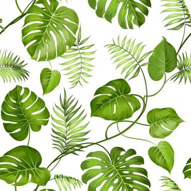 "Картина, постер, плакат, фотообои ""Тропический листья дизайн."", артикул 74483269"