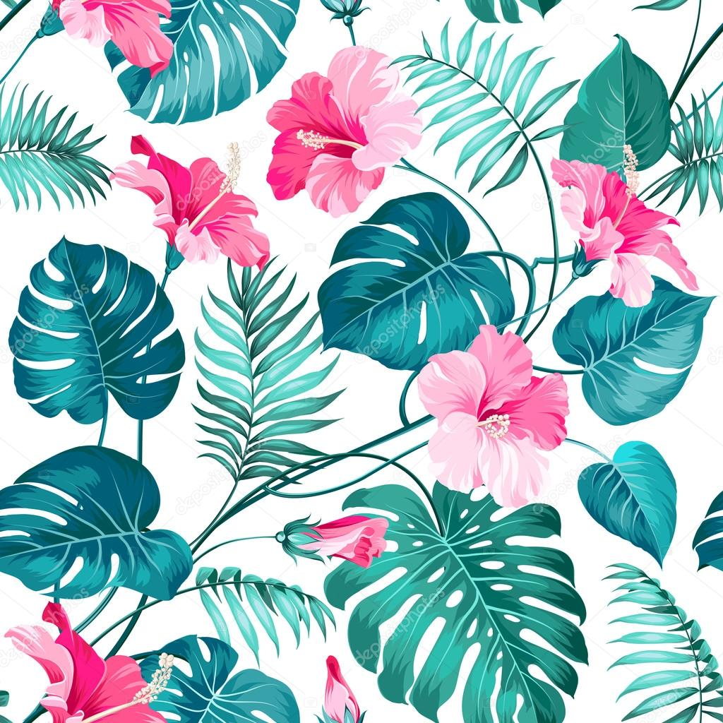 seamless tropical flower pattern pics stock photos all sites