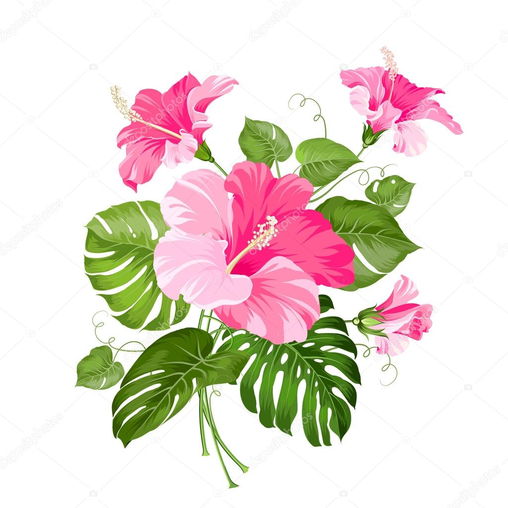 Tropical flower garland stock vector kotkoa 76016907 tropical flower garland isolated over white background vector illustration vector by kotkoa izmirmasajfo Gallery