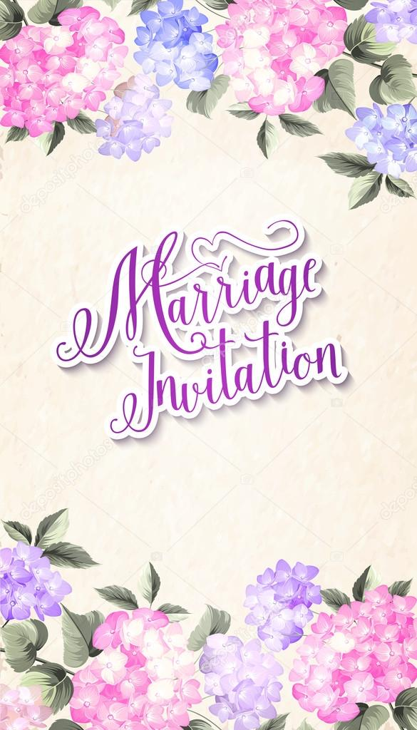 Invitation card template.